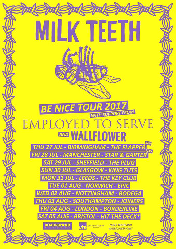 Milk Teeth tour poster